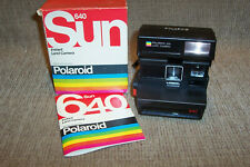 Polaroid 640 Instant Land Camera Original Box & Manual Vintage Photography