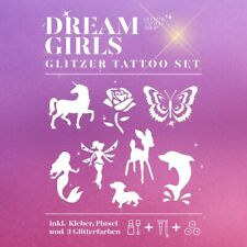 Glitzertattoo Set Kinderfest Set Dream Girls Geschenke Set Kindertattoos 24tlg