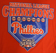 2009 National League Champions Philadelphia Phillies MLB T-Shirt Adult Large Red