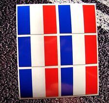 Pegatinas bandera francesa TRICOLORE Pequeño X 6 Decal Set han movilizado Motorsport Reino Unido F1