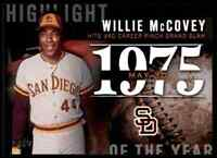 2015 TOPPS SERIES 2 HIGHLIGHT OF THE YEAR WILLIE MCCOVEY #H-18 INSERT