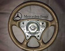 Mercedes Benz R129 W140 W202 W210 SL, E,S Beige Leather Steering Wheel Assembly