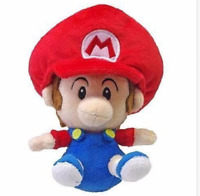 "Super Mario Brothers 6"" Baby Mario Plush Toy Stuffed Animal Doll Kids Gift"