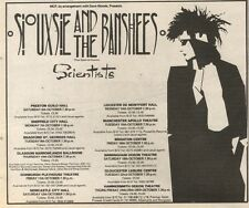 5/10/85PN46 ADVERT: SIOUXSIE & THE BANSHEES LIVE & VENUES 1985 6X7