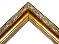 "Gold English Victorian  1"" 3/8  Ornate Wood - Custom Picture Frames."