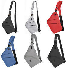 OSOCE Men Women Sling Bag Shoulder Chest Pack Crossbody Nylon Handbag Backpack