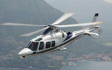 AgustaWestland AW109 Helicopter Desktop Mahogany Kiln Dried Wood Model Large