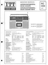 ITT Schaub Lorenz Original Service Manual für Intercontinental cassette 109 A