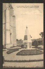 SOUZAY (49) MONUMENT AUX MORTS avec COQ 1914-1918 & EGLISE en gros plan