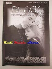 BLACK MAGAZINE 23/ 2001 Delerium 69 Eyes Mopnica Richards Veljanov Avrigus No*cd