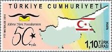 TURKEY 2014, 50th YEAR OF CYPRUS TURK POST, FLAG, MNH