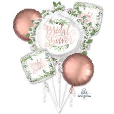 Bridal Shower Foil Balloon Bouquet Rose Gold Love & Leaves Hen Party Decorations