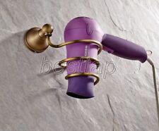 Antique Brass Wall Mounted Bathroom Accessories Hair Dryer Holder sba144