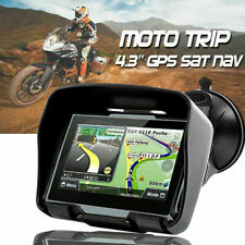 "4.3"" Touch Screen Car Motorcycle Bluetooth Waterproof 8GB GPS Navigation NAV SAT"