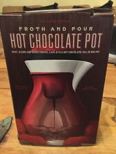 Williams Sonoma Froth and Pour Hot Chocolate Pot microwavable NEW