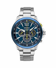 New Seiko Solar Chronograph Special Edition Stainless Steel Men's Watch SSC505