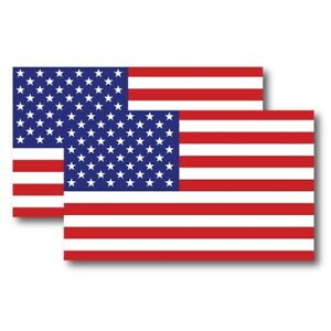 American Flag Magnet Decal 5 x 3 Inch 2 Pack - Heavy Duty for Car Truck SUV