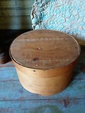 Early PRIMITIVE ANTIQUE wooden signed BUTTER  PANTRY firkin box - spice box