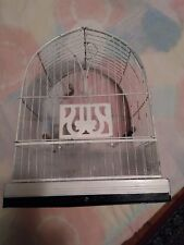 Antique White Hendryx Bird Cage double Bottom Trays ,Water And Food Cups