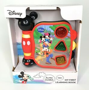 Disney Mickey Mouse My First Learning Book Sight Sound 12M+ Gift English Spanish