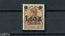 1,60 M. Germania Aufdruck dunkelbraun** geprüft (S2035)