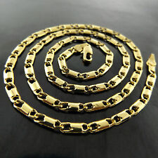 NECKLACE CHAIN GENUINE REAL 18K YELLOW G/F GOLD SOLID LADIES ITALIAN DESIGN
