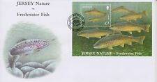 Unaddressed Jersey First Day Cover FDC 2010 Nature Freshwater Fish Sheet