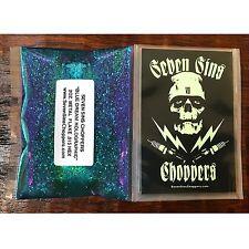 Seven Sins Choppers BLUE DREAM HOLOGRAPHIC Metalflake Chopper Hotrod Paint Flake