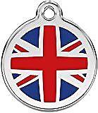 Red Dingo Médaille pour Chien Motif Drapeau Anglais 20 mm (kx4)