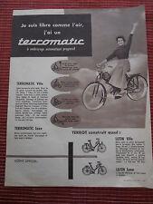 publicité mobylette cyclomoteur - TERROT - TERROMATIC  ( ref 22 )