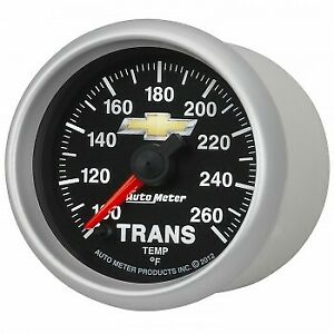 """Auto Meter 2-1/16""""  Chevy Gold Bowtie Electric Transmission Temperature Gauge"""