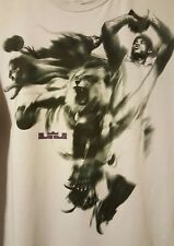 Nike Lebron James PRE-OWNED Dri-Fit Size XL Gray/ Purple T-Shirt