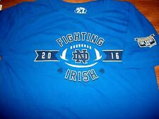 Notre Dame Football 2016 The Shirt Fighting Irish Rise Above Blue T-Shirt Sm NWT