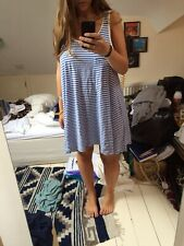 Urban Outfitters Cheap Monday blue stripe cami swing dress size medium