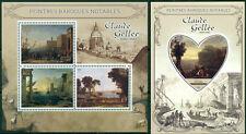 Claude Gellee Baroque Art Madagascar MNH stamp set 4val +s/s