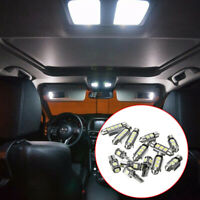 14x Universal Car Interior White LED Light Lamp Bulbs 39 41 42mm Kit Accessories