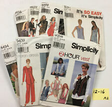 Misses Simplicity pattern Lot Of 7 Size 12 14 16 Dress Skirt Vest Jacket Uncut