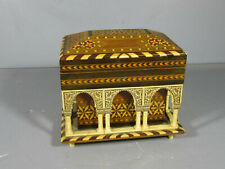 Vintage REUGE Inlaid Wood & Arches Swiss Music Box