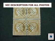 NobleSpirit Fantastic France 54a Tete-beche Pair In Block Of 4 Used =$3,250 Cv!