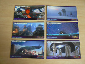 ** TOPPS STAR WARS EMPIRE STRIKES BACK WIDEVISION PROMO TRADING CARDS P1-P6 **
