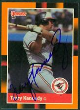 Original Autograph of Terry Kennedy of the Baltimore Orioles on a 1988 Donruss