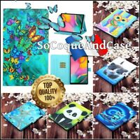 Etui Coque Housse COLORS Cuir PU Leather Case Tablet Samsung Galaxy Tab A, S5e