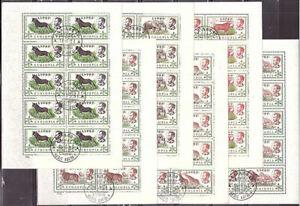 Äthiopien - 1961 Wildtiere in Äthiopien, 6 Werte, Kleinbogensatz gest.