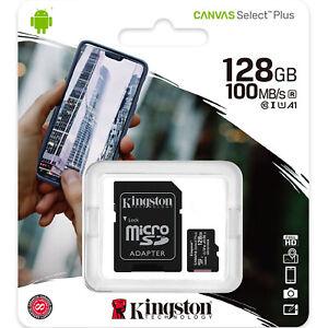 Kingston 128GB Micro SD SDXC MicroSD Class 10 128 GB Canvas Select Plus 100MB/s