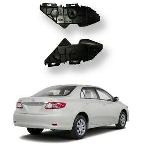 For 2009 2013 Toyota Corolla Rear Bumper Brackets Retainer Set LH RH 2pcs