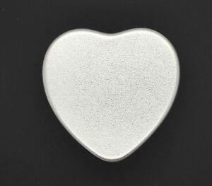 Small Silver Heart Shaped Metal Tin Case Trinket Pill Box Tablet Holder 20ml
