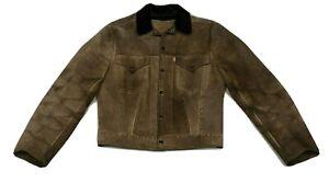 Vintage 60s Levi's Big E Suede Western Trucker Jacket - Size 38