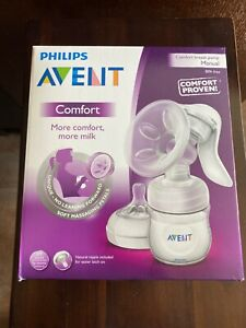 Philips Avent Comfort Natural Manual Breast Pump With 4 oz Bottle New unopened