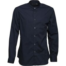 French Connection Mens Formal Henley Shirt, Marine, Large, BNWT