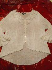 Elements Vintage Blouse 3/4 Sleeve Shirt Top Stretch Ruffles Size XL
